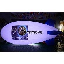 Надувной дирижабль Гелиевый шар со светодиодным светильник дирижабль 4 м/5 м/6 м ПВХ led blimp для рекламы надувной воздушный шар