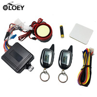 2 Way Anti theft Security Alarm System For Motorcycle Scooter Moto Two Way Alarm With 2 LCD Transmitters Remote Engine Start