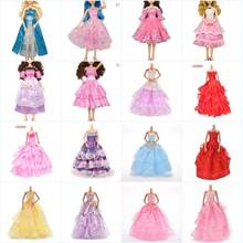 Mixed Style Party Wear Skirt Lace Gown Clothes Dresses Handmade Wedding Dress Princess Evening Dress For 60cm Dolls Accessories(China)