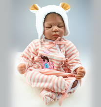 22″ Silicone Vinyl Reborn Baby with Vinyl Belly Soft Weighted Body Poseable Realistic Baby Girl Doll