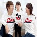 2015 новое прибытие соответствующие семьи печать любовь спортивная одежда комплект с длинными рукавами хлопка футболку одежды семьи горячая распродажа