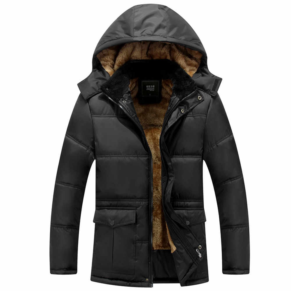 Men's Autumn And Winter Jacket New Style Thickening Warm Cotton Padded Men Clothes 2019 Coat Men Parka Chaqueta Invierno Hombre