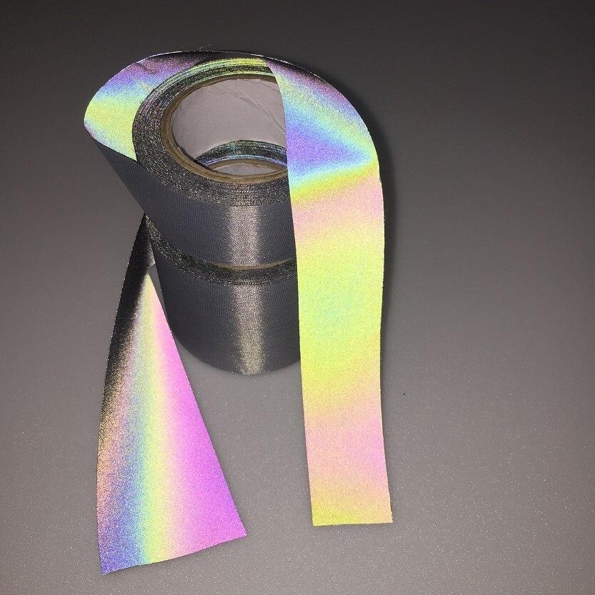 Iridescence Reflective Fashion Fluorescent Magic Color Cloth Variable Color Brilliant Reflecting Light Fiber Fabric