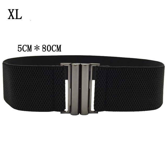 Elastic Band Wide Belts Simple Down Coat Waist Belts Female Buckle Cummerbund Black Strap Dress Decoration Gifts 5