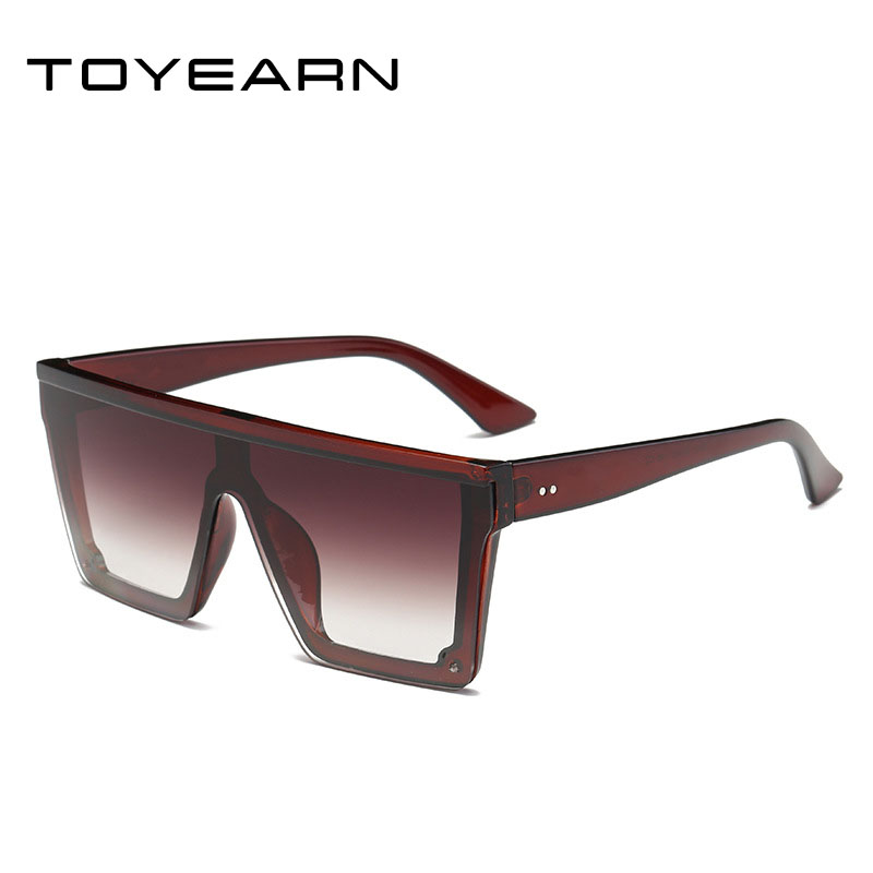 2019 New Oversized Sunglasses Women Big Frame Square Flat Top Rivet Sun Glasses Female Men Vintage Mirror Shades Gradient UV400