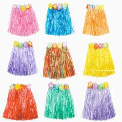 Хэллоуин Рождество хула show костюмы Гавайский взрослых детей Трава юбка пять штук взрослых Трава юбка 60 см