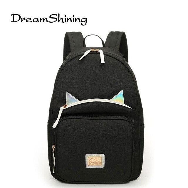DreamShining Мода Школьные Сумки Для Подростков Мини Рюкзак Высокое Качество Холст Корейский Стиль Серебристые Женщины Плечи Мешок