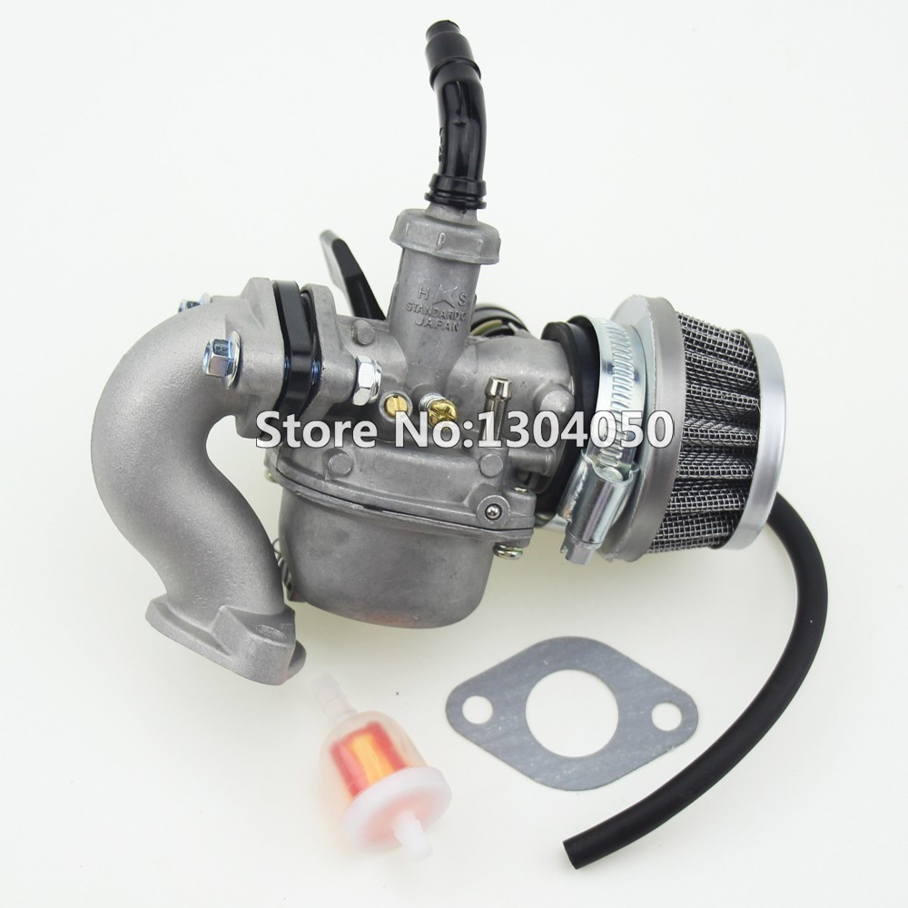 medium resolution of pz19 19mm hand choke carburetor carb intake pipe air filter fuel filter 50cc 70cc 90cc 110cc 125cc quad atv taotao sunl