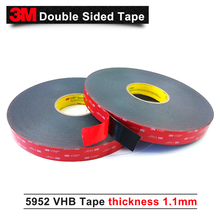 3M VHB 5952 3m black double sided tape Outstanding durability performance VHB tape two side acrylic adhesive 15mm*33m/5rolls/lot