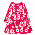 Floral toddler girl dresses winter dress girls Print Flowers Long Sleeves Princess Wedding Christmas pageant dresses 2-10T