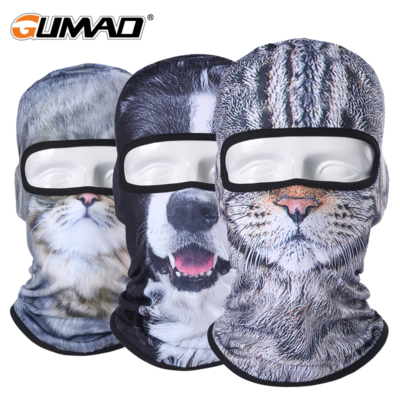 3D Cute Cat Dog Balaclava Full Face Mask Warm Helmet Liner Ski Running Cycling Snowboard Bike Bicycle Riding Face Shield Hat все цены