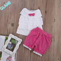 Infant Newborn Baby Girl Summer Clothes Sets Kid LOVELY T-shirt Top Pants Outfit Infant Bodysuit  Baby Girl Clothes
