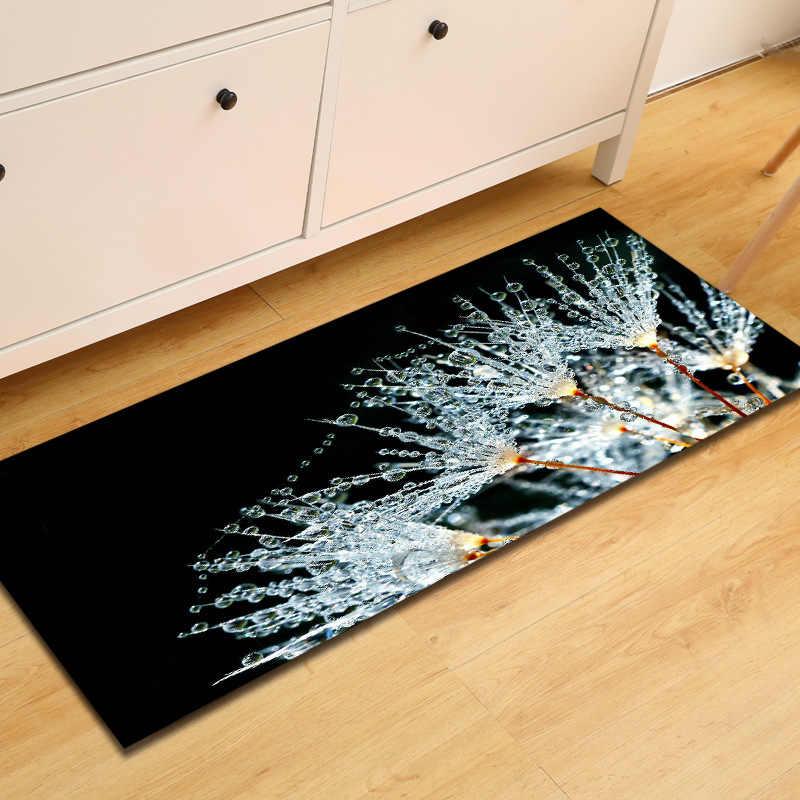 Zeegle 3D ห้องครัวชั้น MAT Anti-SLIP พรมสำหรับห้องนั่งเล่นห้องนอนพรมข้างเตียงพรมห้องน้ำเสื่อเท้าบ้านประตูพรม
