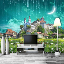 Fantasy Castle Meteor Shower 3D Background Wall Professional Design Wallpaper Mural Custom Photo Wholesale