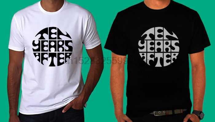 Nouveau dix ans après Logo t-shirt noir et blanc t-shirt S 3Xl Normal à manches courtes coton t-shirts O cou chat coupe-vent carlin 2018