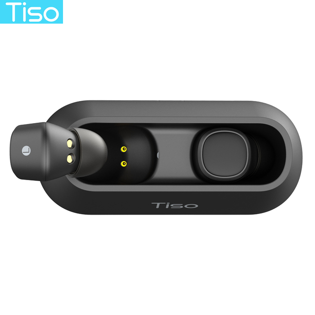 Tiso i4 TWS headphones 5.0 Bluetooth wireless earphones magnetic design built-in dual mic and 500mAh power bank charging box 2