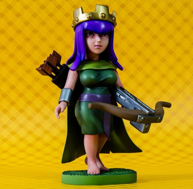 archer queen clash of clans COC action toy figure scale