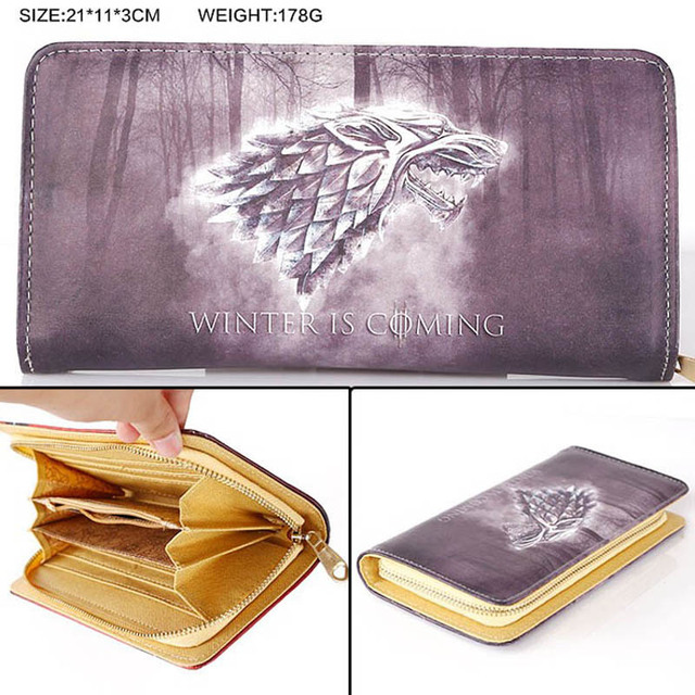 Multi-function Game of Thrones Winter is Coming Design Wallet