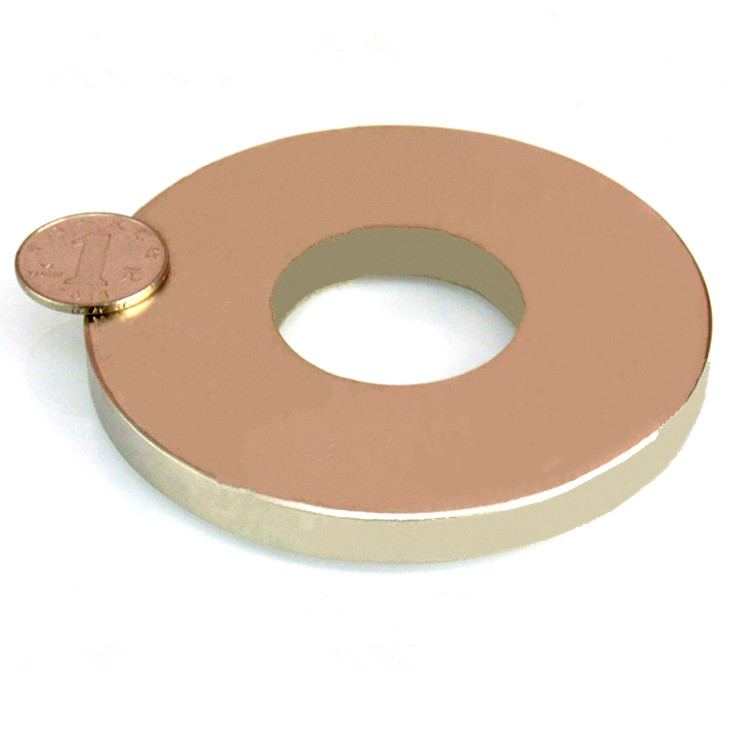 NdFeB N52 Magnet Large Ring OD 100xID 40x10 mm thick about 4 round Strong Neodymium Permanent Magnets Rare Earth Magnets ndfeb n42 magnet large disc od 100x10 mm with m10 countersunk hole 4 round strong neodymium permanent rare earth magnets