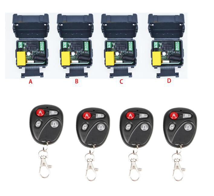 AC 220V 1CH 10A RF Wireless Remote Control Relay Switch Security System Garage Doors Gate Electric Doors shutters