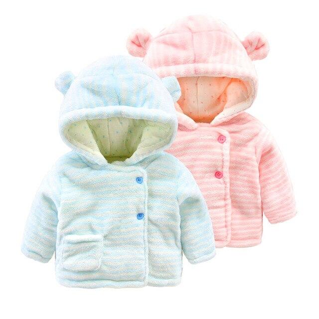 516911455 Bebé abrigo de invierno gruesa de algodón acolchado ropa 0-6 meses recién  nacido coral