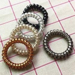 Bracelet à bande de téléphone pour femmes, à haute élasticité, en spirale, bobine, multi-rôle, Bracelet pour cheveux pour femmes, élastique pour queue de cheval chouchous