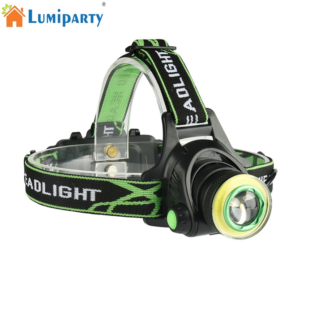 LumiParty T6 Headlamp Strong Light Portable USB Charging Headlamp Long Shot Head Light for Outdoor Activity Hunting Fishing