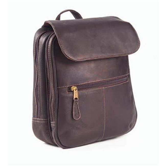 Clava 202 Flap Organizer Backpack - Vachetta Cafe clava 709 hip to be square backpack vachetta cafe