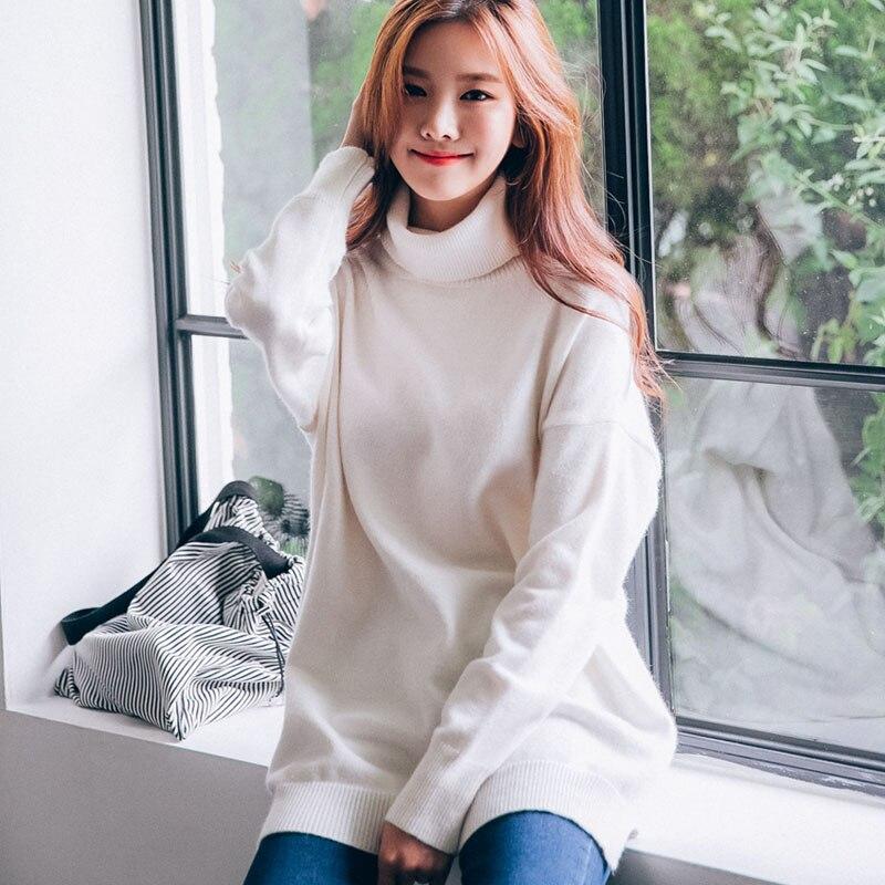 2016 font b Women b font Winter Warm Long Turtleneck Wool Sweater Pullover Womens Knitted Sweaters