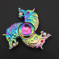 Dragon Long Fidget Spinners Colorful Hand Spinners Metal Fidget Spinners For Autism And ADHD Kids Gift