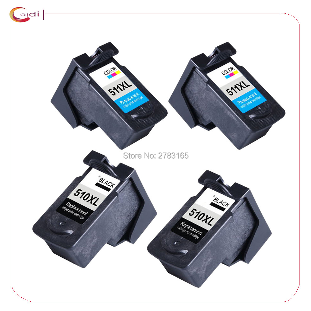 4 x Black/Colour  Compatible ink cartridge PG510 CL511 for canon pg-510 cl-511 For PIXMA MP230 240 250 260 270 280 282 480 490 4
