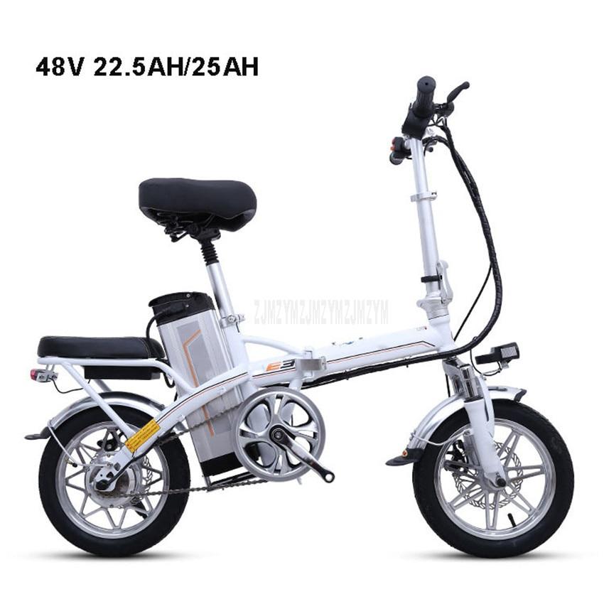 Mini Bike Folding Electric Bike 14inch Wheel 240W Motor E Bike Electric Bicycle Scooter Two Seat 48V 22.5AH/25AH Lithium Battery