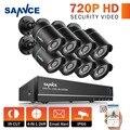 Sannce 1080n 720 p hdmi 8ch cctv sistema de gravador de vídeo 8 pcs 720 p casa de segurança câmera de visão noturna à prova d' água kits de vigilância