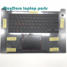 цена на Laptop parts for DELL inspiron 15-7000 7560  7572 palmrest with US backlit red keyboard touchpad DCIN also Assembly