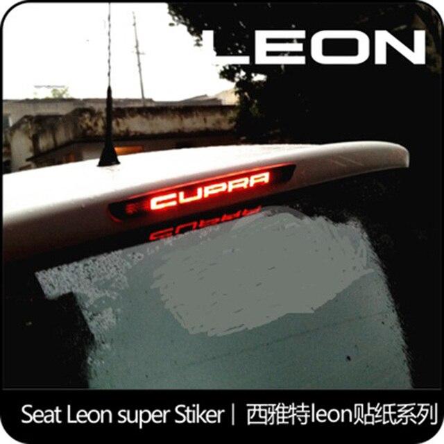 1 pc koolstofvezel auto stickers Hoge remlichten lamp HIGH MOUNT STOP LAMP voor seat leon cupra fr fr +