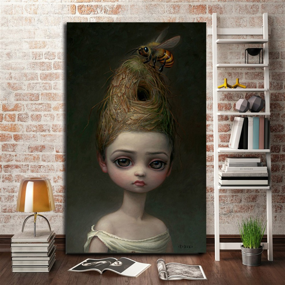 Mark Ryden Childish Strange Dark World Queen Bee Art Canvas Poster Painting Wall Picture Print Home Bedroom Decoration Artwork visual arts