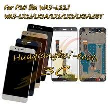 Dla Huawei P10 lite WAS-L22J / LX2J / LX1A / LX1 / LX2 / LX3 / L03T pełny wyświetlacz LCD + ekran dotykowy Digitizer montaż z ramą