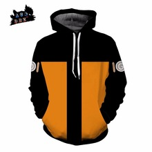 AC&DBZ New Kids Anime Hooded Cool Naruto Uzumaki 3d sweatshirt Hoodies Men women Fashion Street Jacket Hoodie Top