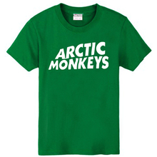Новый 2016 бесплатная доставка продавать печать письма арктический обезьяны рок-группа сериалы мужчин мужчина с коротким рукавом – рубашка