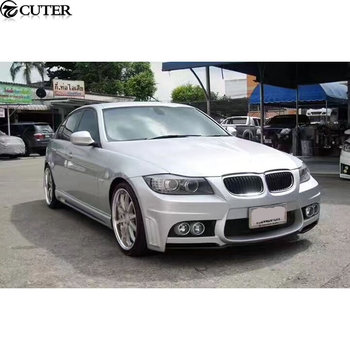 E90 325i WD Style Car body kit FRP Unpainted Front bumper Rear bumper Side skirts for BMW E90 325i WALD body kit 05-12