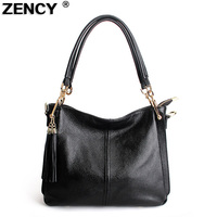 Natural Genuine Leather Designer Women Bags Handbags Tassels Shoulder Bag Cowhide Leather Messenger Bags Satchel