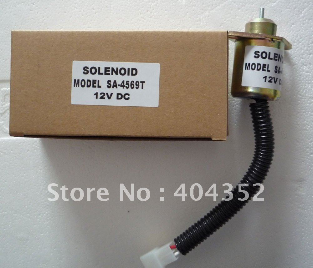 Free shipping by DHL/FEDEX express,1503ES-12A5UC5S Shutdown solenoid valve SA-4569-T 3924450 2001es 12 fuel shutdown solenoid valve for cummins hitachi