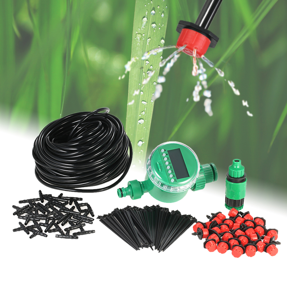 Garden Drip Irrigation Kit Plant Watering Timer Programmable Intelligent Irrigation System For Garden Greenhouse(China)