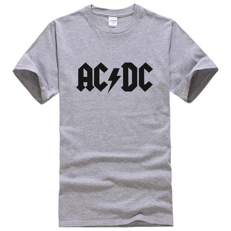Neue Camisetas AC/DC Banda de Hip Hop Camisas T-shirt Drucken Felsen Forma T-shirt O Pescoço Bluse Baumwolle Dry Fit Tops Mann T Hombr