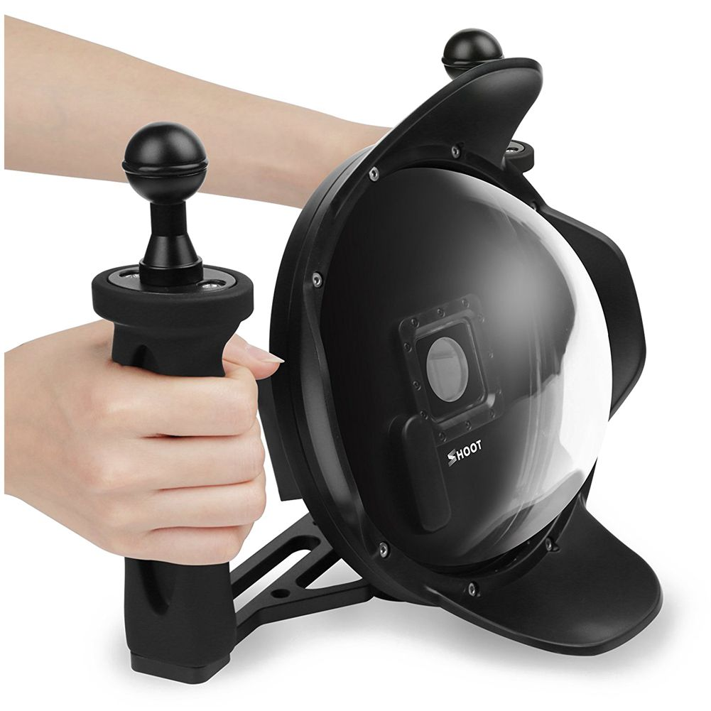 SHOOT Upgraded 3.0 Version 6 inch Diving Underwater Handheld Stabilizer Lens Hood Dome Lens Dome Port for Gopro Hero shoot underwater camera dome port lens hood extra lcd storage gopro hero 3 4