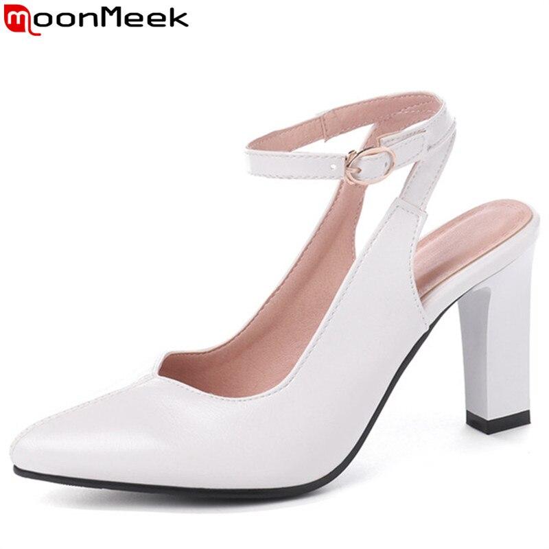 Con Zapatos Para Hebilla De 34 45 Mujer Alto Grande Tacón Talla Moonmeek lFJcT1K