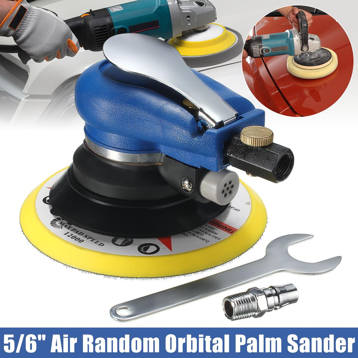 6 Inch Air Palms Orbital Sander Random For Palms Sander 150mm Dualable Action Auto Body Orbit Da Sanding Hand Sanding Pneumatic Lustrous Surface Polishers