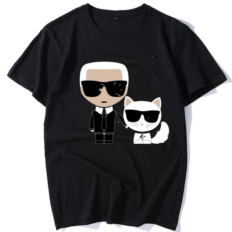 Karl Lagerfeld короткий рукав белая футболка Модальные женские модные футболки
