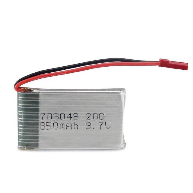 1 stks 3.7 V 850 mah 20C RC Toy Lipo Batterij voor Hubsan MJX MJX X800 X300C X500 SYMA Helicopter Drone Quadcopter Gratis verzending