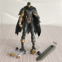 Anime Game 359 Repaint Edition GUTS: Black Swordsman Action Figure Berserk Movable Modeling Toy Collectables free shipping